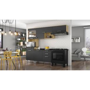 Cozinha Compacta Itatiaia Clean 6 Portas 4 Gavetas Mdp