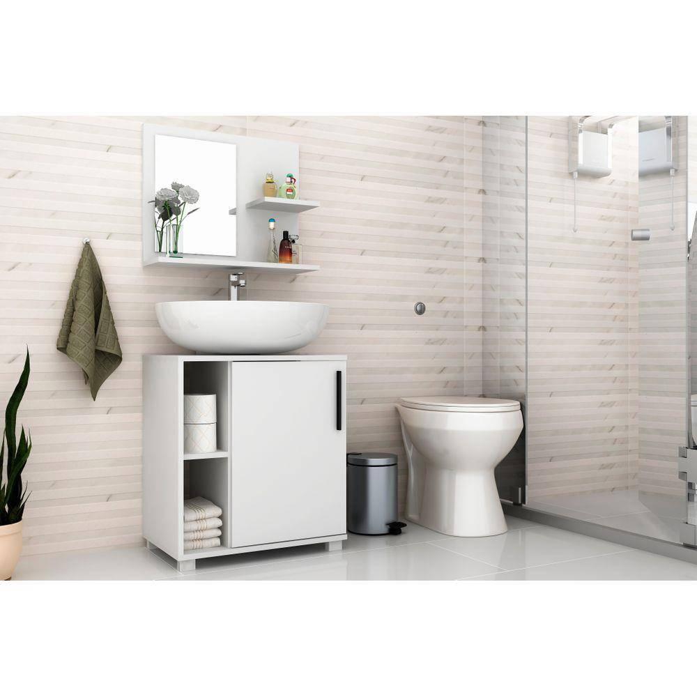 Armário De Banheiro 1 Porta Branco (Bbn 19-06) - Brv Móveis