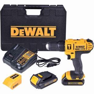 Furadeira E Parafusadeira De Impacto Dewalt Dcd776ch 20v 1/2 Pol C/ 2 Baterias + Carregador