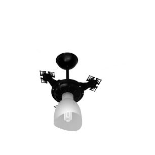 Ventilador De Teto Cristal Light 3p Pto/Transp Ventidelta