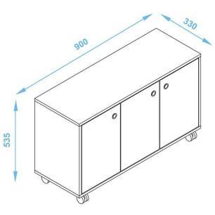 Armário 3 Portas Branco/Preto (Bho 25-63) - Brv Móveis