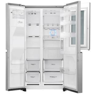 Geladeira Smart Lg Side By Side Inverter 601 Litros Inox Com Instaview Door-In-Door 220v