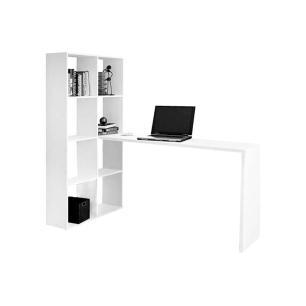 Escrivaninha Estante Branca (Be 38-06) - Brv Móveis