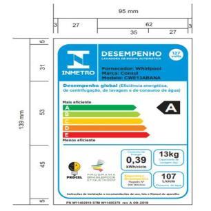 Lavadora De Roupas Consul 13 Kg CWE13ABANA Branca - 110v