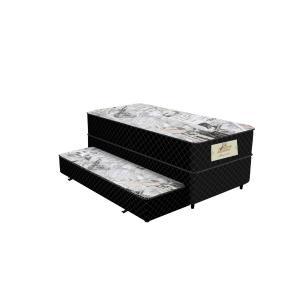 Cama Box Conjugada Solteiro Passione 2070  88x46x188cm Preto