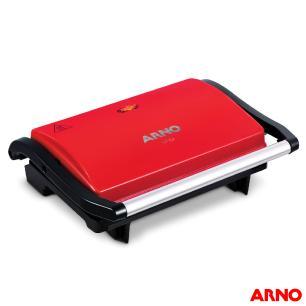 Grill Arno Compact Uno Com Antiaderente Vermelho