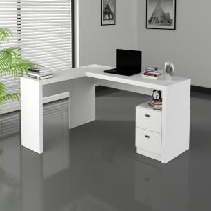Mesa Escritório De Canto Tecnomobili Me4129 Branco