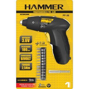 Parafusadeira Sem Fio Hammer 4,8v à Bateria