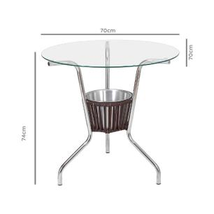 Conjunto de Mesa Liz CJMB401315 com 4 Cadeiras - Castanho - ALEGRO
