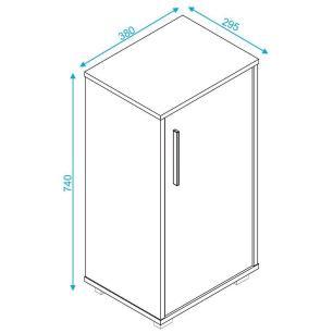 Armário Multiuso 1 Porta Branco (Bho 138-06) - Brv Móveis
