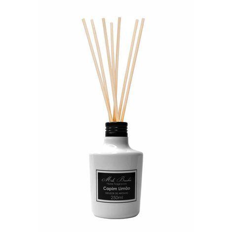 Difusor Black & White Capim Limão - 250Ml - Mels Brushes