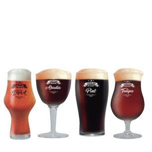 Jogo Copo Cerveja Taça Cerveja Beer Sommelier Escuras c/ 04 520ml