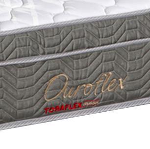 Cama Box Queen Branca + Colchão Molas Bonnel - Lucas Home - OuroFlex 158x198x60cm