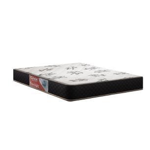 Cama Box Casal Cinza + Colchão De Molas - Prorelax - Cristal 138x188x53cm