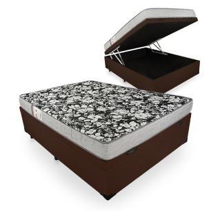 Cama Box Com Baú Casal + Colchão De Espuma D26 - Ortobom - Physical Ultra Resistente 138x188x59cm