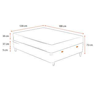 Cama Box Baú Viúva + Colchão De Molas Ensacadas - Ortobom - AirTech SpringPocket 128x188x72cm