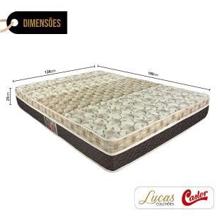 Colchão De Molas Ensacadas Viúva - Castor - Class Pocket Híbrido One Face - 128x188x25cm