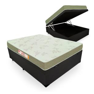 Cama Box Com Baú Casal + Colchão De Espuma D33 - Castor - Sleep Max 138x188x60cm