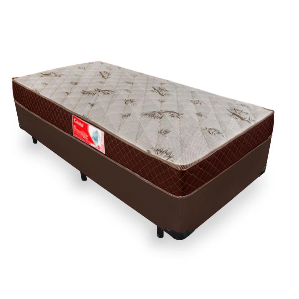 Cama Box Solteiro + Colchão De Molas - Prorelax - Cristal 88x188x53cm