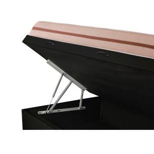 Cama Box com Baú Solteiro + Colchão Molas Ensacadas - Anjos - Classic - 88x188x64cm