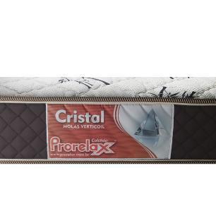 Cama Box Solteiro Cinza + Colchão De Molas - Prorelax - Cristal 88x188x53cm
