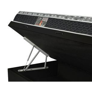 Cama Box Com Baú Solteiro + Colchão De Molas - Castor - Class Bonnel One Face 88x188x67cm
