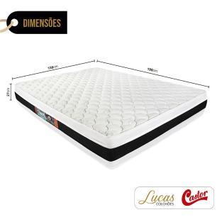 Colchão De Espuma D45 Queen - Castor - Black & White Double Face - 158x198x27cm
