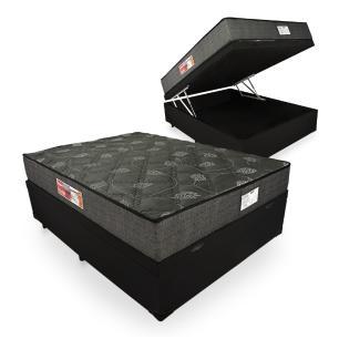 Cama Box Baú Casal + Colchão De Espuma D23 - Prorelax - Sienna 138x188x66cm