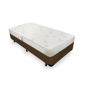 Cama Box Solteiro + Colchão De Espuma D23 - Ortobom - Light Liso 78x188x47cm
