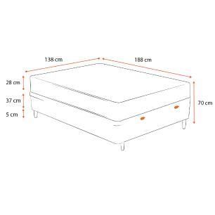 Cama Box Baú Casal Branca + Colchão de Molas Ensacadas - Sealy - Starck - 138x188x70cm