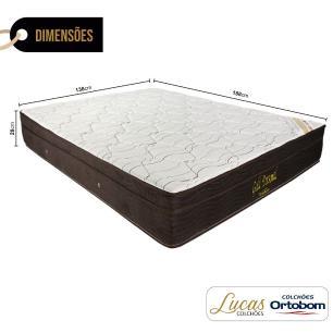 Colchão De Molas Ensacadas Casal - Ortobom - Gold Personal - 138x188x28cm