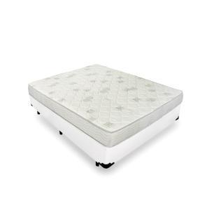 Cama Box Casal + Colchão de Espuma D23 - Ortobom - Light D23 138x188x49cm