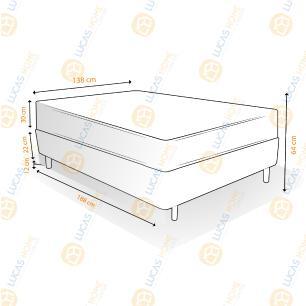 Cama Box Casal Rupestre + Colchão Massageador - Mormaii - Flutuante 138x188x64cm