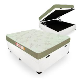 Cama Box Com Baú Viúva + Colchão De Espuma D33 - Castor - Sleep Max 128x188x60cm