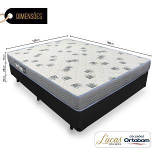 Cama Box Casal + Colchão De Espuma D33 - Ortobom - Light 138x188x52cm