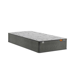 Cama Box Solteiro Branca + Colchão de Molas Ensacadas - Plumatex - Barcelona - 88x188x63cm