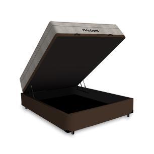 Cama Box com Baú Casal + Colchão De Molas Ensacadas - Ortobom - AirTech SpringPocket 138x188x72cm