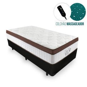 Cama Box Solteiro + Colchão Massageador c/ Infravermelho - Anjos - New King 88x188x65cm