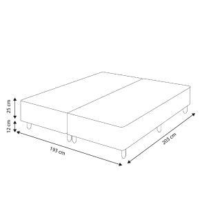 Somiê Cama Box King - Lucas Home - Rústica 193x203x37cm
