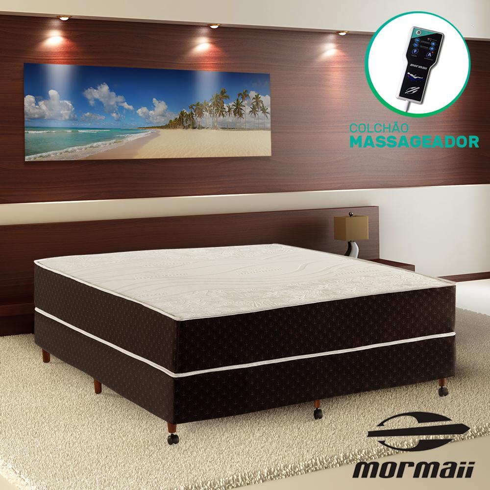 Cama Box Casal + Colchão Massageador - Mormaii - Smartzone Lotus 138x188x64cm