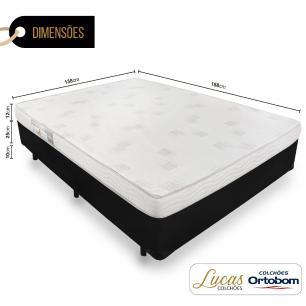 Cama Box Casal + Colchão De Espuma D23 - Ortobom - Light 138x188x47cm