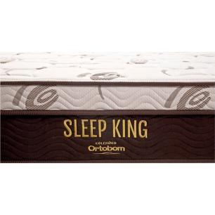 Cama Box Com Baú King + Colchão De Molas Ensacadas - Ortobom - Sleep King - 193x203x74cm