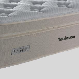 Cama Box Super King Rústica + Colchão de Molas Superlastic - Plumatex - Toulouse - 193x203x71cm