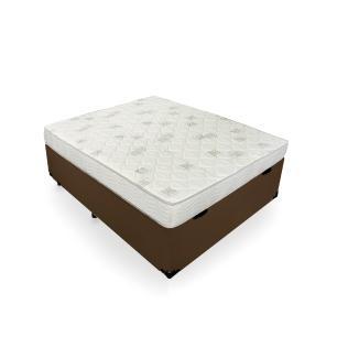 Cama Box Baú Casal + Colchão De Espuma D23 - Ortobom - Light D23 138x188x56cm