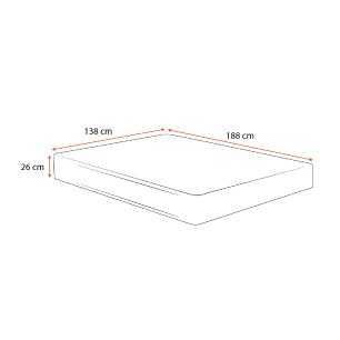 Colchão Espuma D33 Casal - Lucas Home - Confort D33 - 138x188x26cm