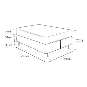 Cama Box Baú Super King Rústica + Colchão de Molas Superlastic - Plumatex - Toulouse - 193x203x76cm