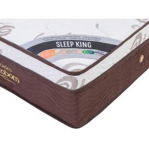 Cama Box Com Baú Super King Preta + Colchão De Molas Ensacadas - Ortobom - Sleep King - 193x203x74cm