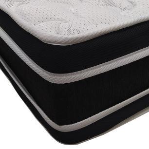Cama Box Super King Preta  + Colchão De Espuma D33 - Castor - Black White Double Face 193x203x62cm