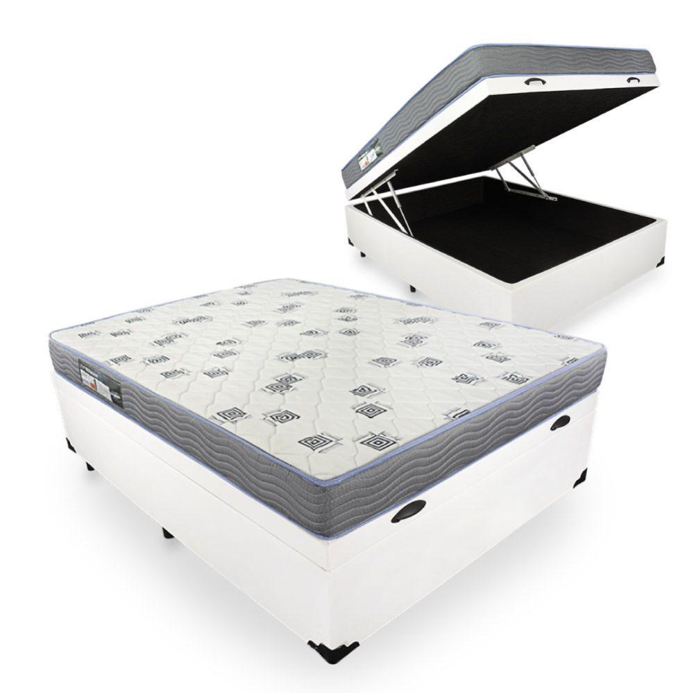 Cama Box Com Baú Viúva + Colchão De Espuma D33 - Ortobom - Light