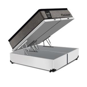 Cama Box Baú Super King Branca + Colchão de Molas Ensacadas - Sealy - Platinum - 193x203x74cm